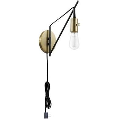 $40 Globe Electric 51343 Exeter Single Swing Arm Wall ...