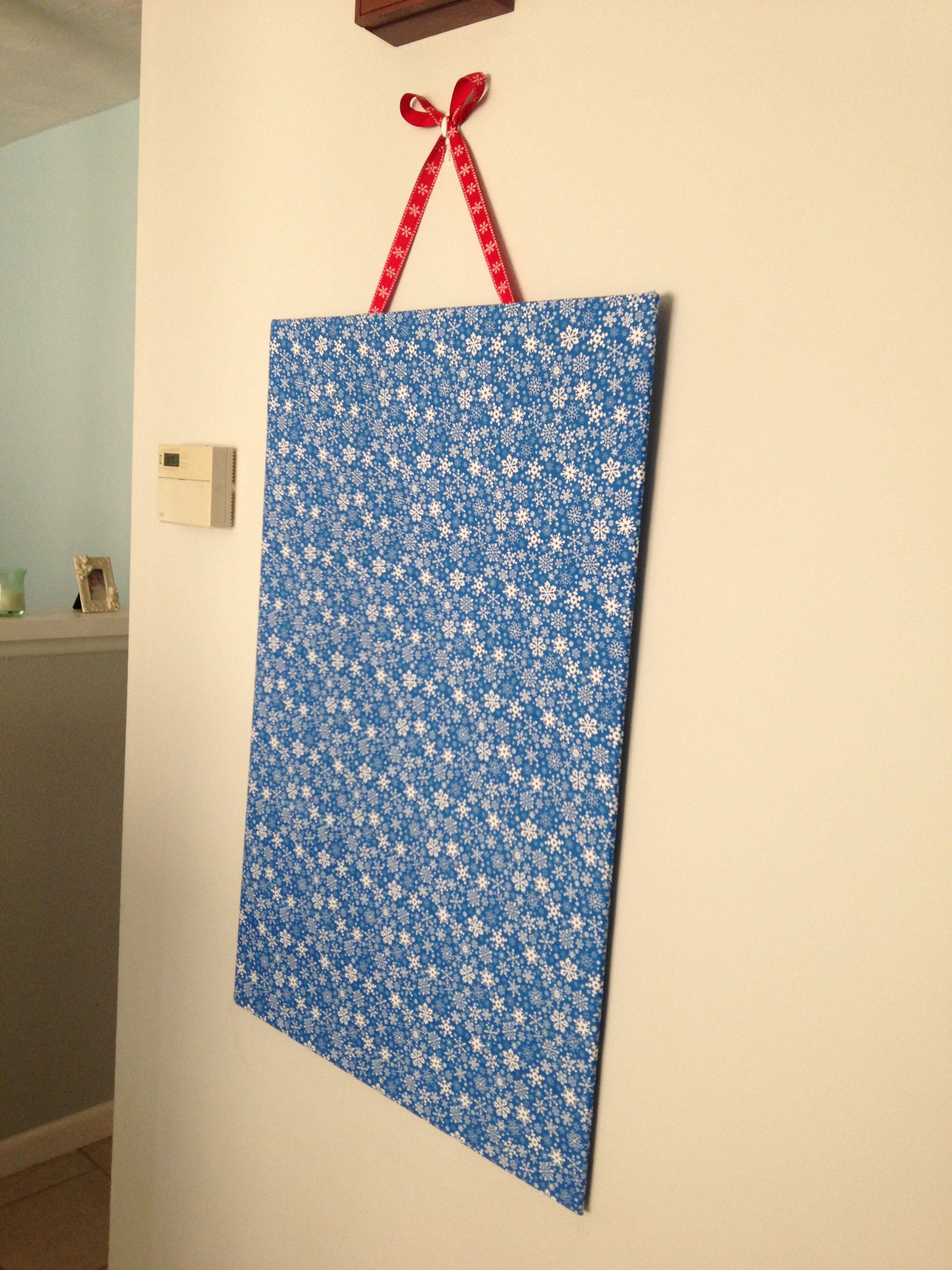 Foam Board Coated With Fabric And Hung With A Ribbon. Instant Christmas  Card Display Board