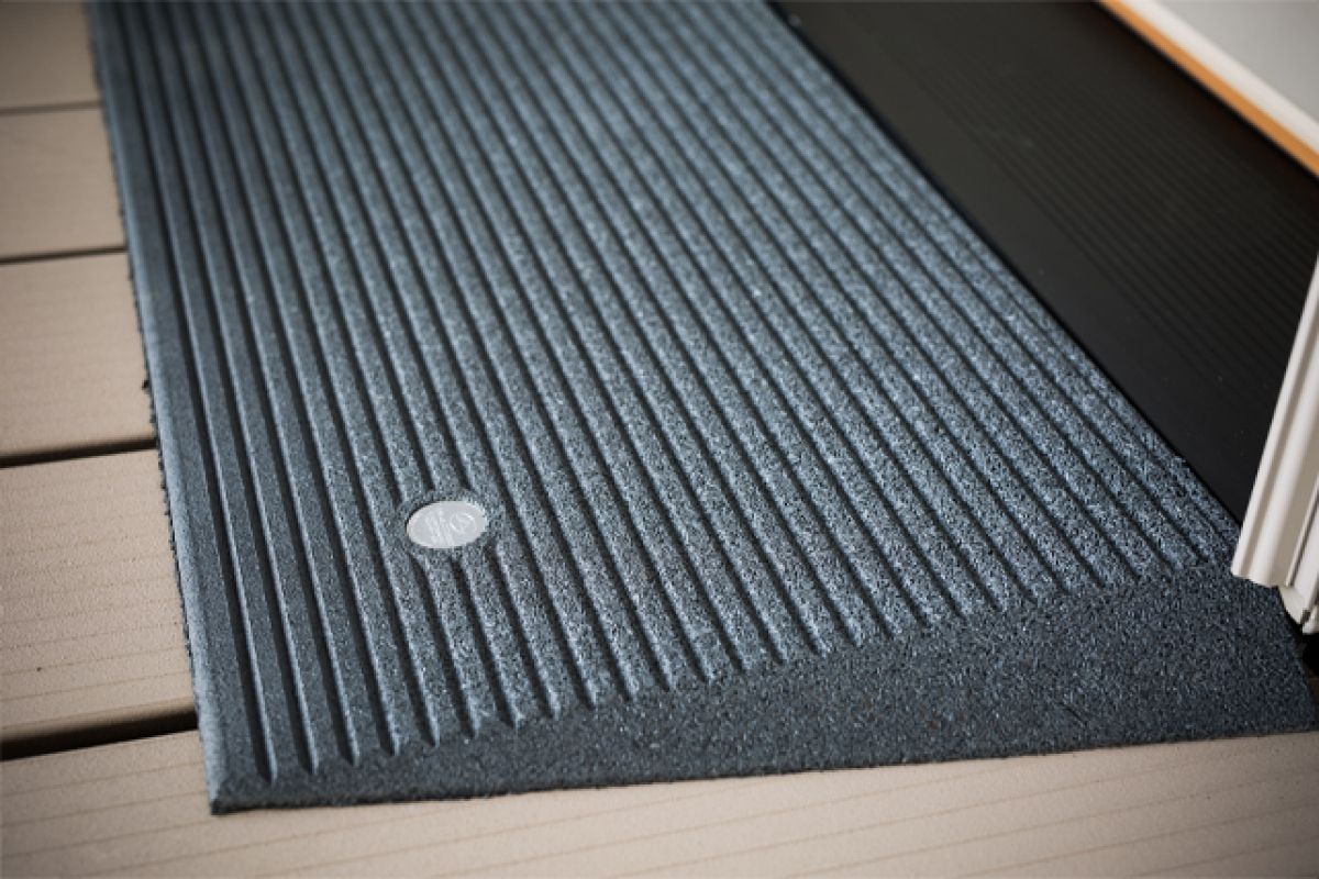 The Transitions 174 Angled Entry Mat Is A Rubber Threshold
