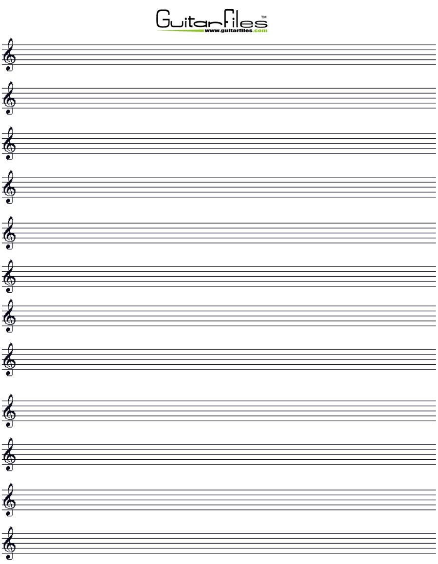 printable music staff