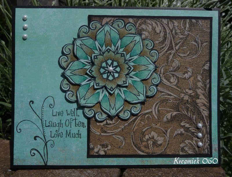 Waterlily Mandala stamps - Kreamiek