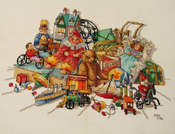 Toys In The Attic Cross Stitch Zoom Counted Cross Stitch
