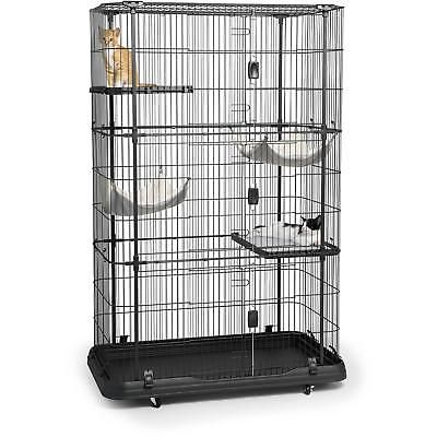 4 Level Cat House Home Premium Safe Play Rest Cage Extra Large Lightweight Pet Cat Crate Large Cat Cage Cat Cages