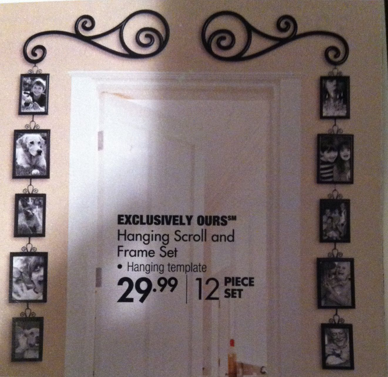 Cute Photo Frame Idea Over The Doorway From Bed Bath And Beyond