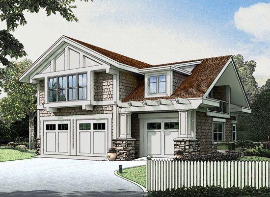 Craftsman Garage Apartment 23484jd: The Dempsey, Plan 16-G Don Gardner Craftsman Garage