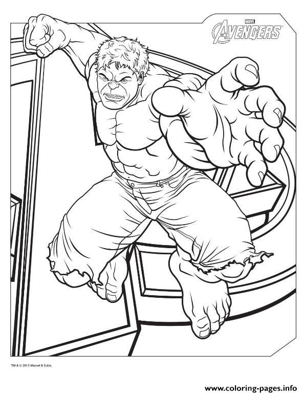 Print hulk from the avengers marvel coloring pages | Mike to print ...