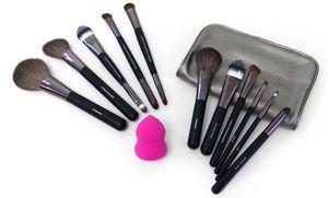 ultimate posh 13piece cosmetic brush and applicator set
