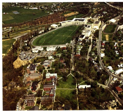 Aerial View Of VMI Post And Vicinity, Ca. 1971 :: VMI