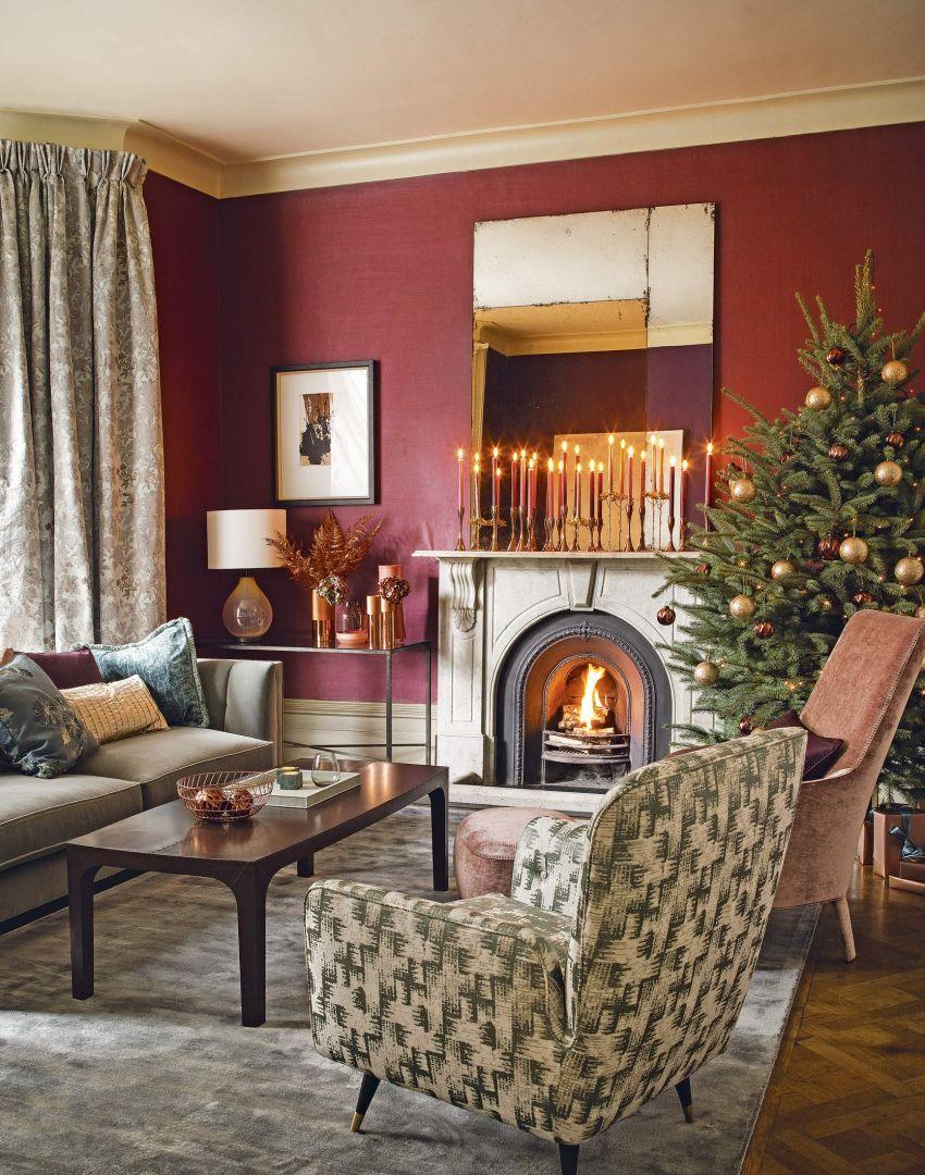 Holiday Inspiration Living Room Ideas Rose Gold Living Room
