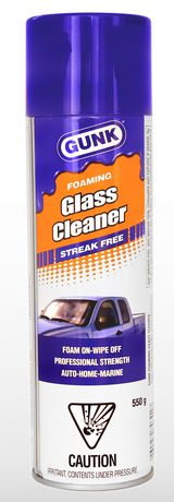 Gunk Foaming Streak Free Glass Cleaner Other Glass Cleaner Best
