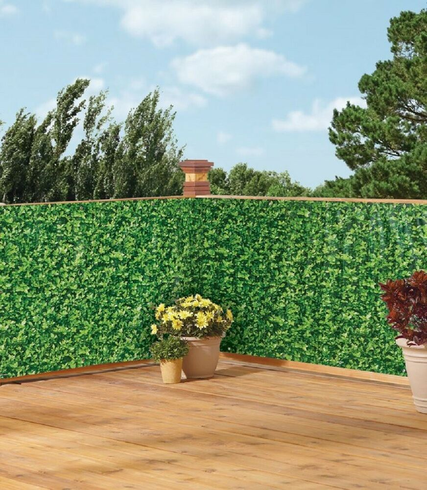 Details About Ivy Print Deck Privacy Screen Green Balcony
