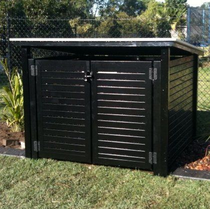 Pool Pump Shed Designs find this pin and more on shed organization pool pump Pool Pump Air Conditioner Fence Cover 2012 Darwin Fencing And Fabrication