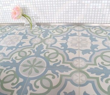 Bathroom Tiles Los Angeles sabine hill - cement encaustic tile - mediterranean - bathroom