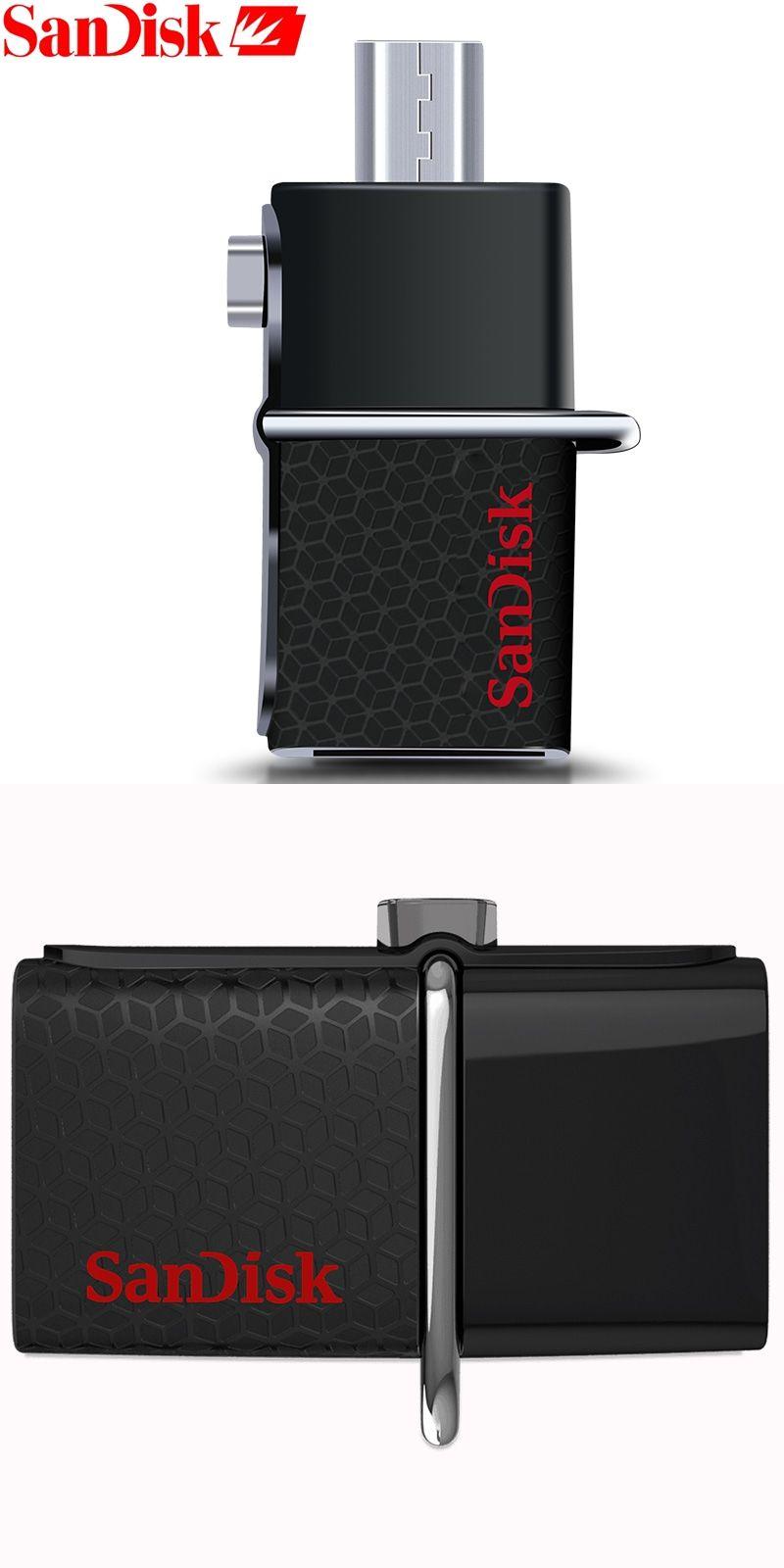 Sandisk 100 Original 130mb S Ultra Dual Otg Usb 30 Flash Drive 32gb Sddd2 16gb