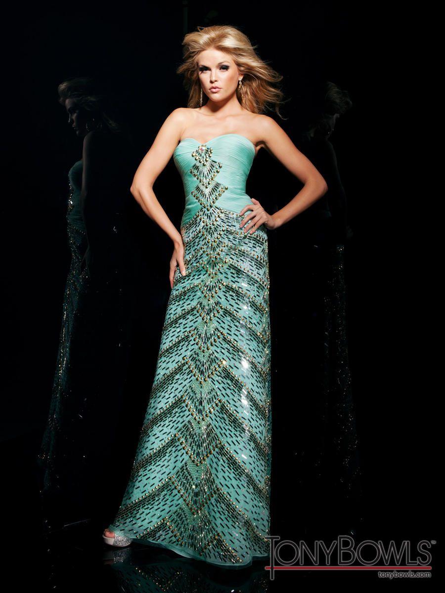 Prom Dress by Tony Bowls Evening style TBE11300. Strapless dress ...