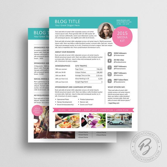 Blog Media Kit Template 01 Ad Rate Sheet Template Press Kit – Rate Sheet Template
