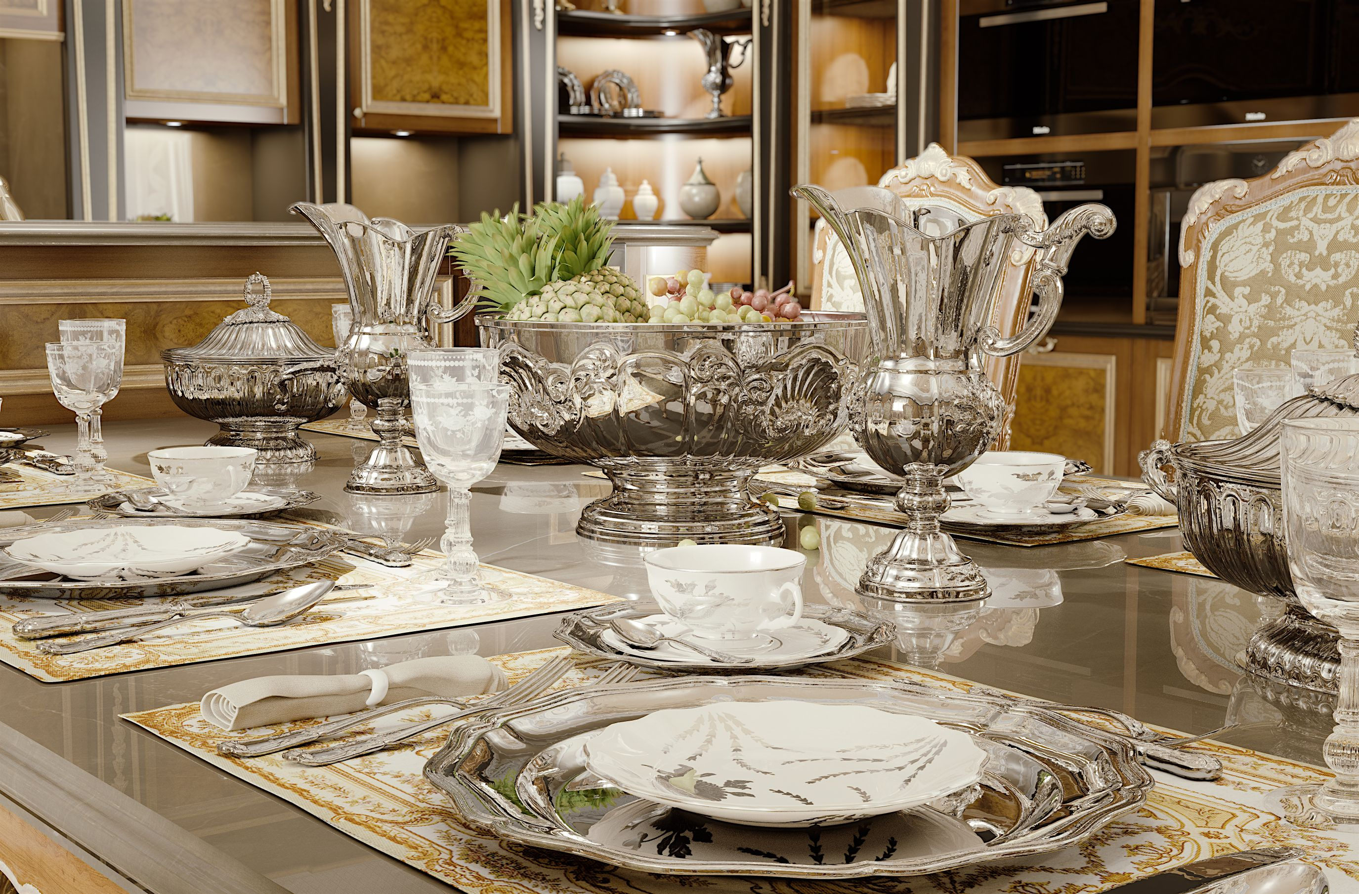 Luxury Table Setting Sterling Silver Schiavon