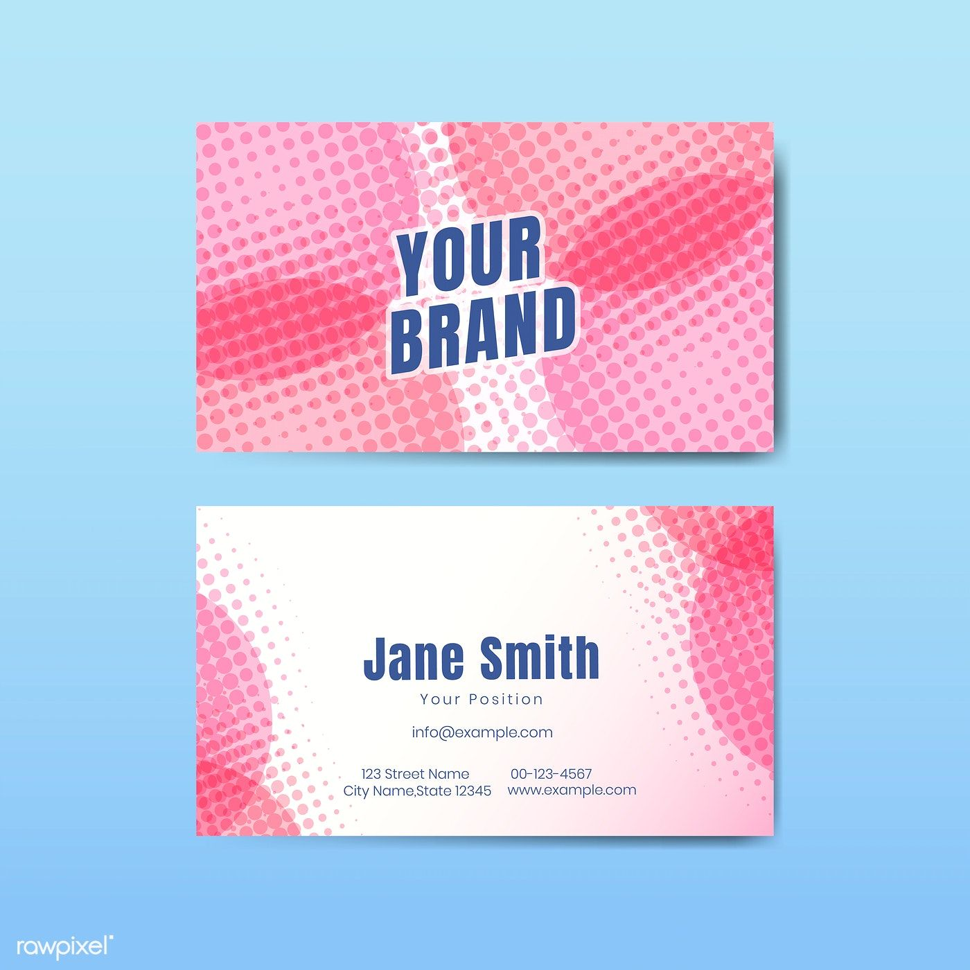 Download Premium Vector Of Business Card Template Vector
