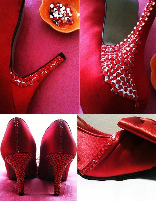4e82b06ccaf1 DIY Tutorial Shoe Makeovers   DIY Bedazzle Your Wedding Shoes
