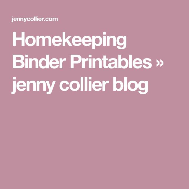 Homekeeping Binder Printables