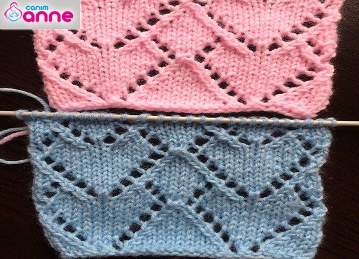 Lace Hearts Knit Stitch Pattern Heart Patterns Stitch And Patterns