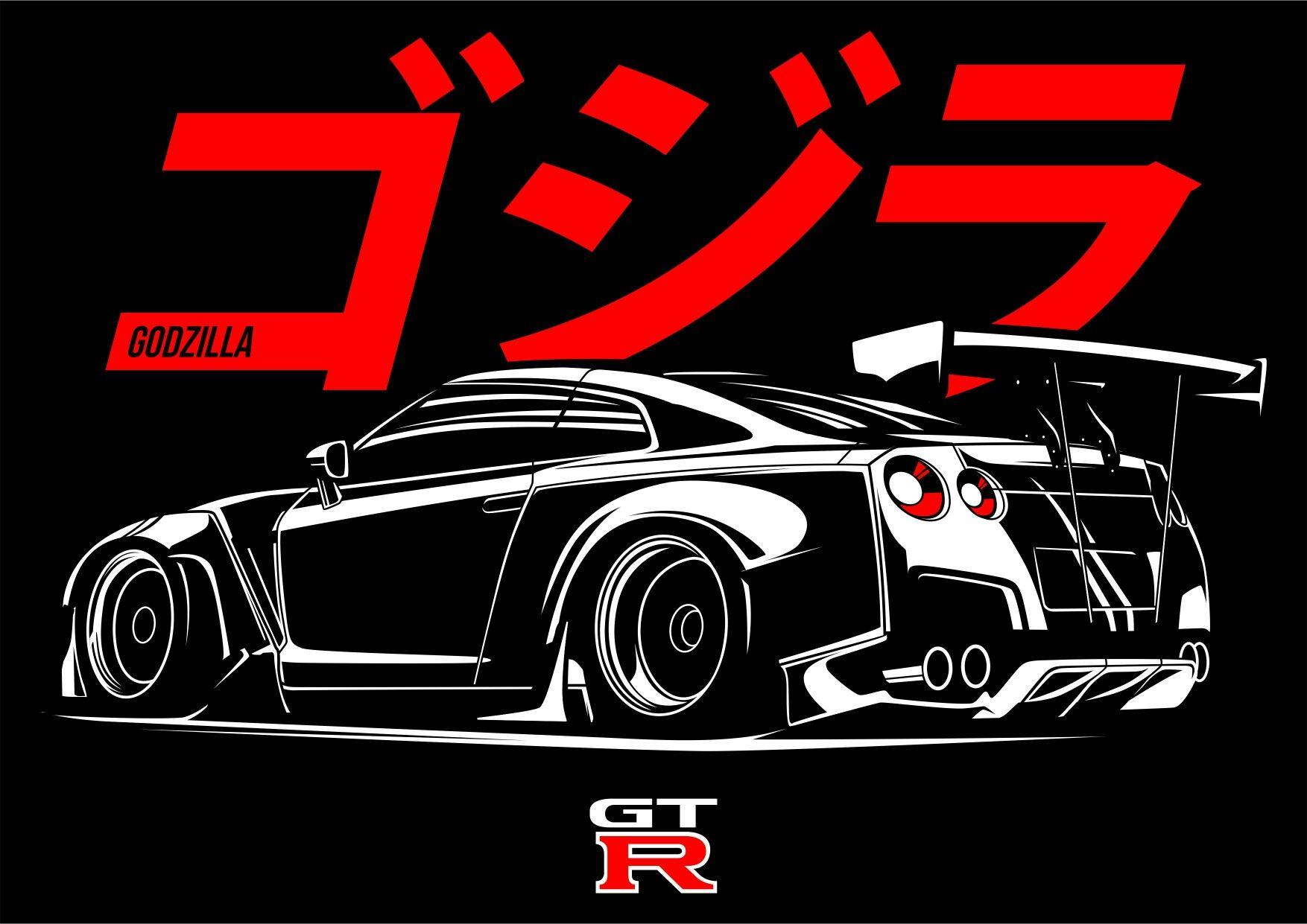 Godzilla Gtr Rocket Bunny Mobil Balap Mobil Sport Mobil