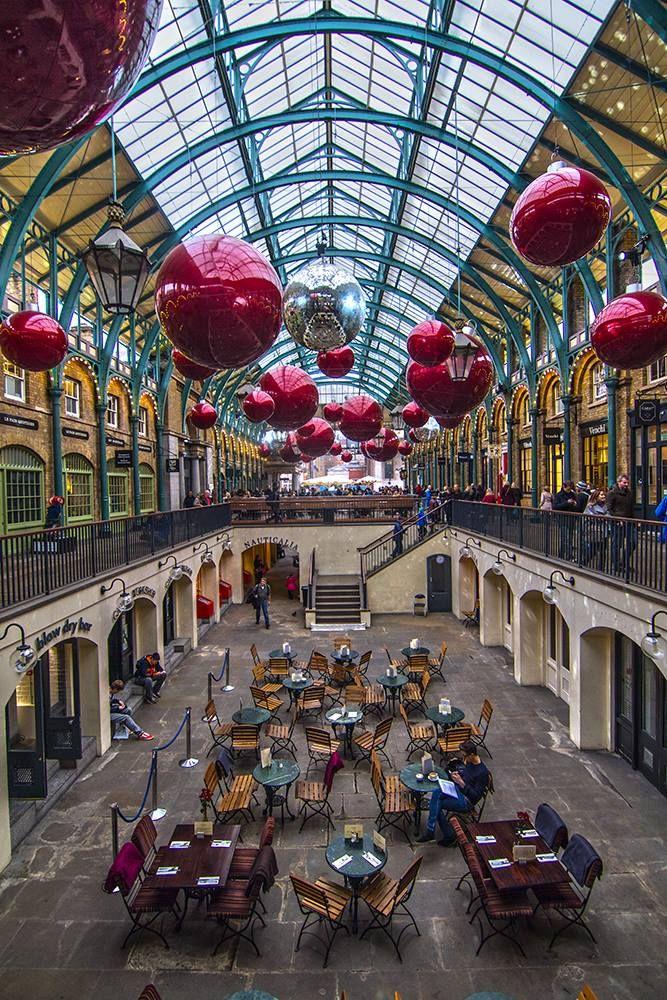 Covent Garden Market Hall in Christmas season, London