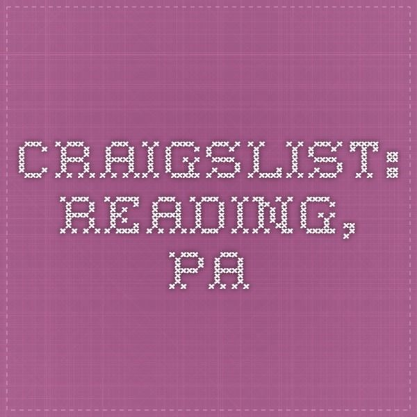 Craigslist Reading Pa Pa Jobs Reading Job