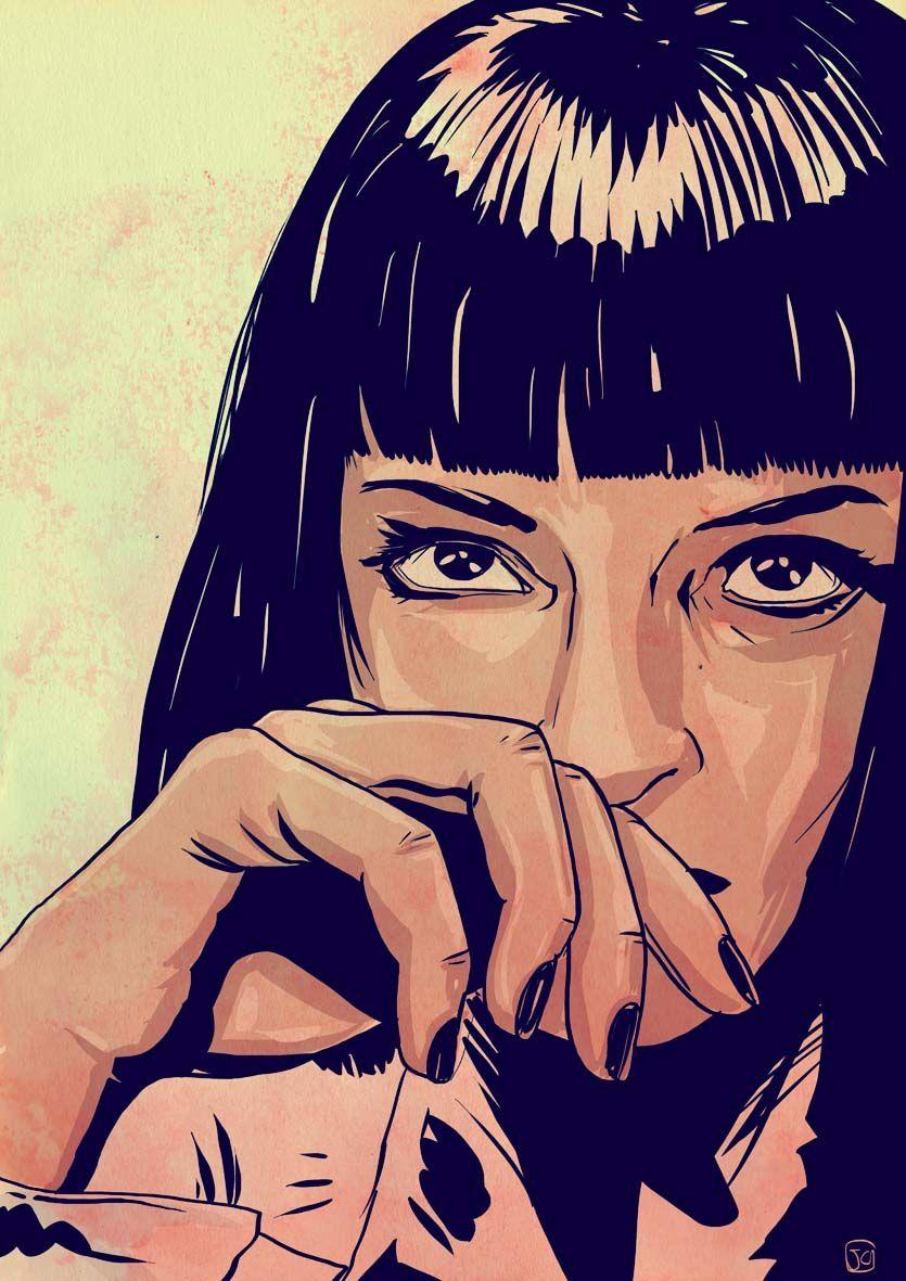 Giuseppe Cristiano O Mia Wallace Pulp Art Fiction Tattoo