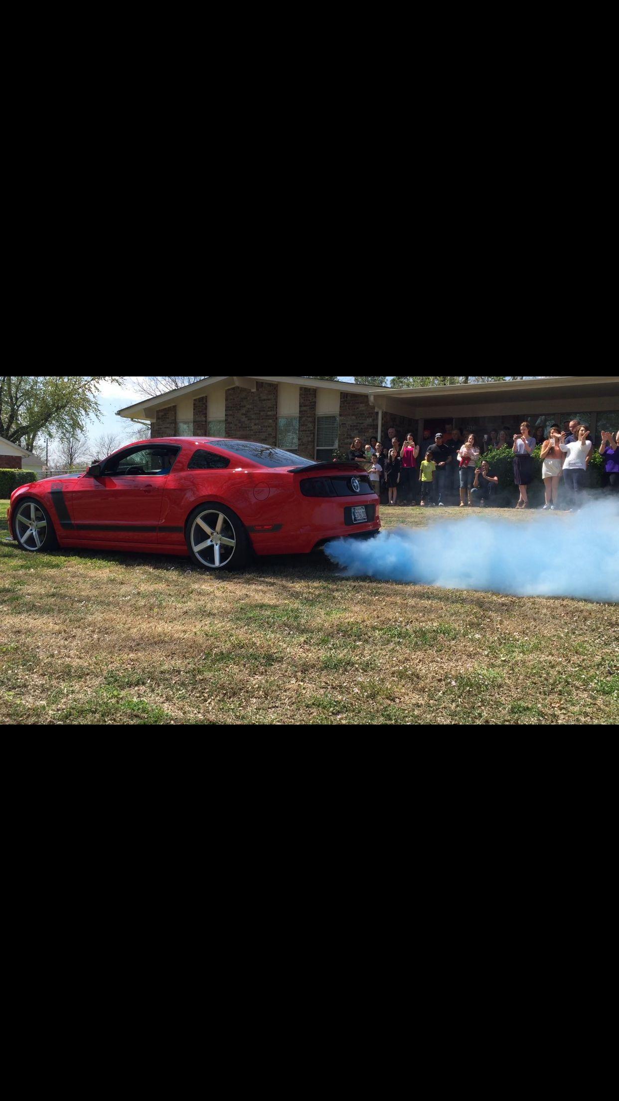 Gender Reveal Mustang Blue Smoke Boy Cars Gender Reveal Announcement Gender Reveal Gender Reveal Smoke