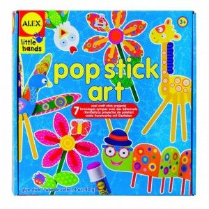 Always looking for craft ideas for the little kids?Pop Stick Art kits are perfect for ages 3 and up!