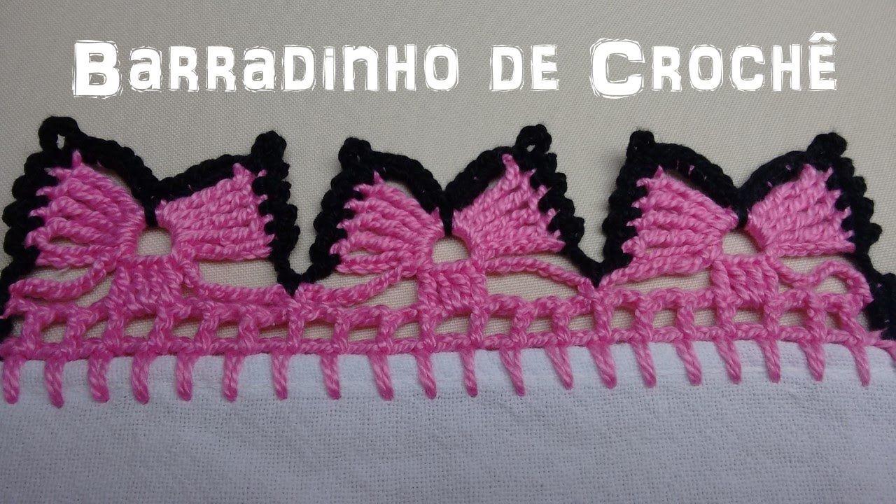 Barradinho De Croche Facil De Fazer Borboletas Com Imagens