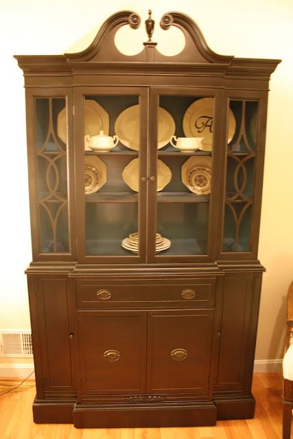 Fearfully Wonderfully Made Living Room Updates Spray Painted China Cabinet Makeover