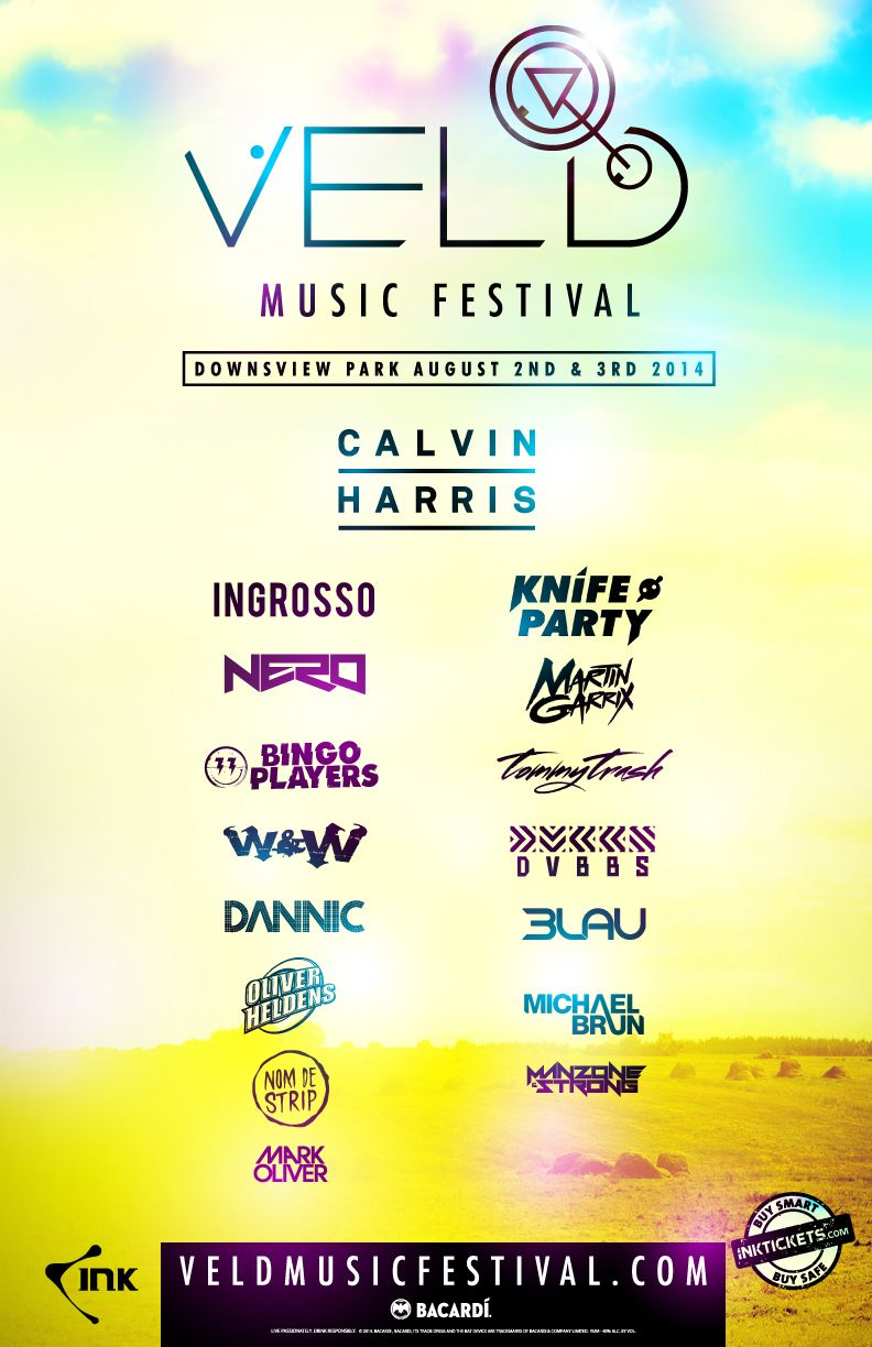 Veld Music Festival Toronto Canada August 2nd 3rd 2014