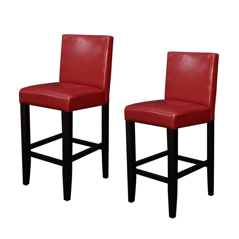 Monsoon Villa Faux Leather Red Counter Stools (Set Of 2) | Nescafe |  Pinterest | Counter Stool, Dark Walnut And Stools