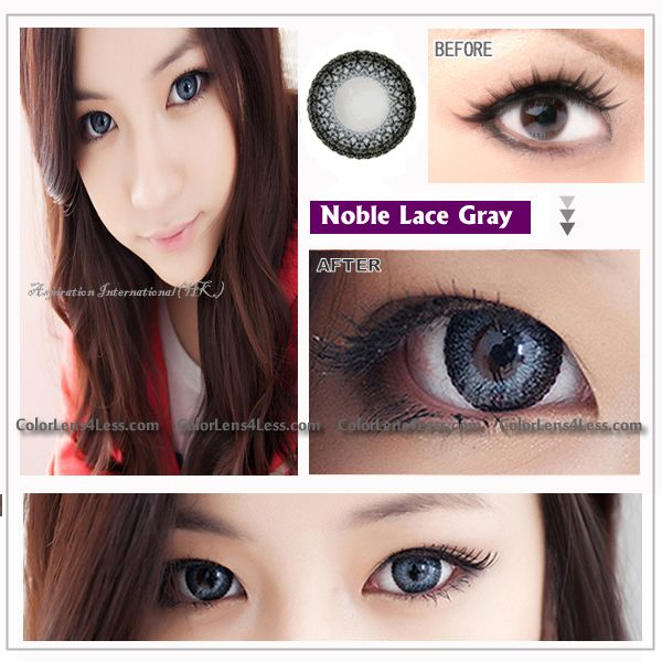 eos lace gray contact lens pair lace gy 2999 contact lenses halloweenhalloween contactscolor - Contact Lenses Color Halloween