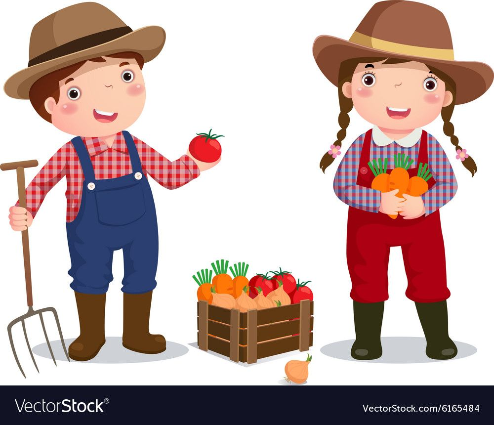 Profession Costume Of Farmer For Kids Royalty Free Vector Kids Farmer Kids Vector Drawing For Kids