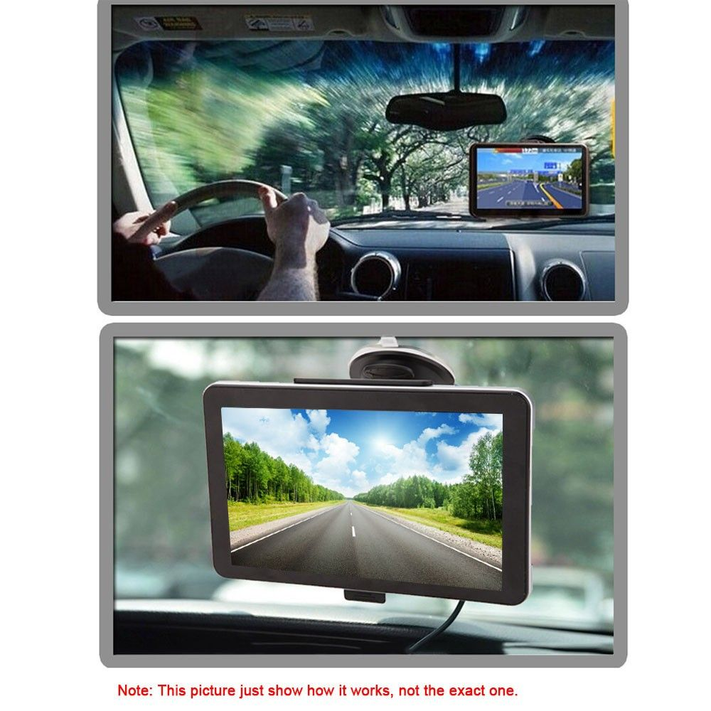 7inch 1080P HD Touch Screen Portable GPS Navigator with Back