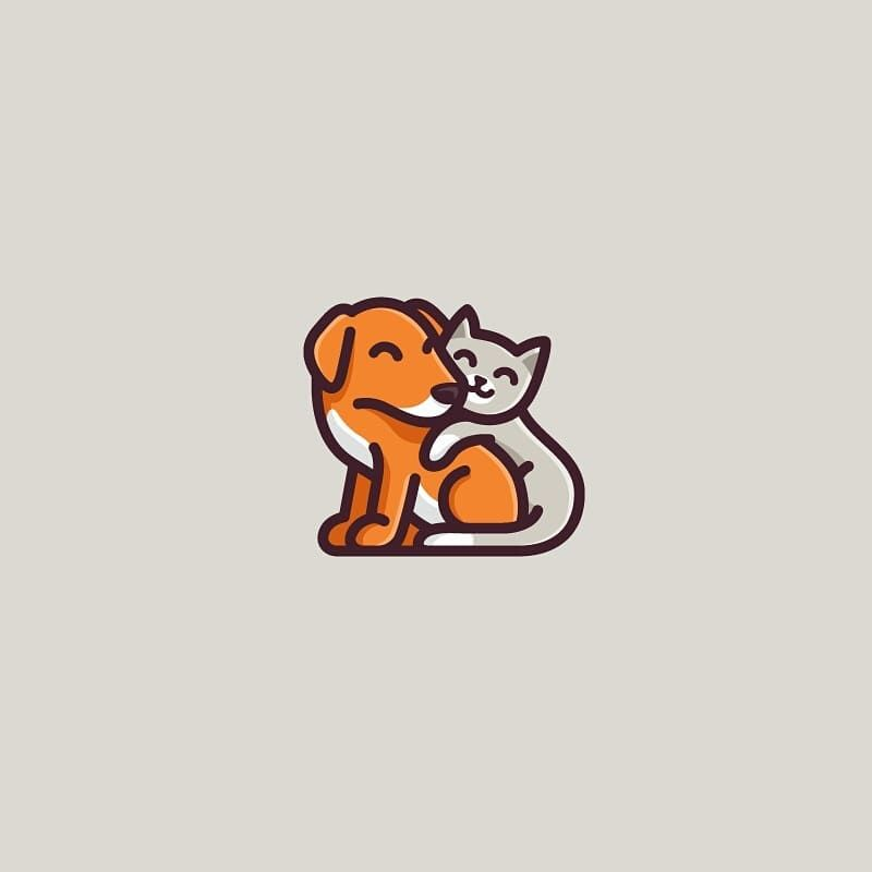 Dog Cat Vaneltia Design Logo Logodesign Loginspiration
