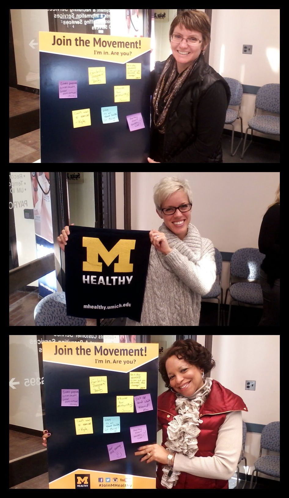MHealthy Rewards Words of encouragement, Faculty, staff