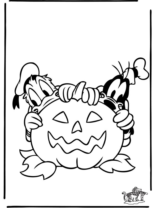 Donald Duck And Goofy Coloring Page Cartoon Coloring Pages Halloween Coloring Halloween Coloring Pages