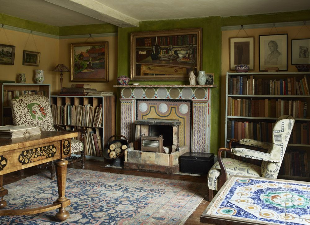 Attractive Although Vanessa And Her Husband Clive Bell Had Separated, Clive Was A  Frequent Visitor At Charleston. In 1939, He Moved There And This Room  Became His ...