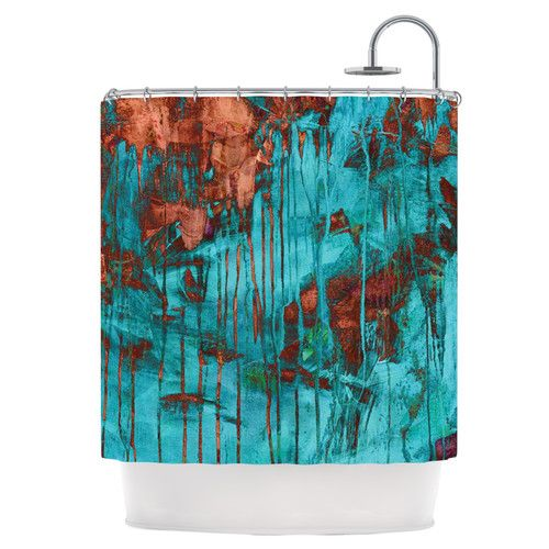 Found it at Wayfair - Rusty Teal Shower Curtain