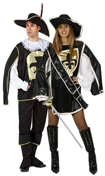 Disfraz de pareja de mosqueteros  Disfraz negro de mosquetera.Este disfraz  de mosquetera para ecc71127475f