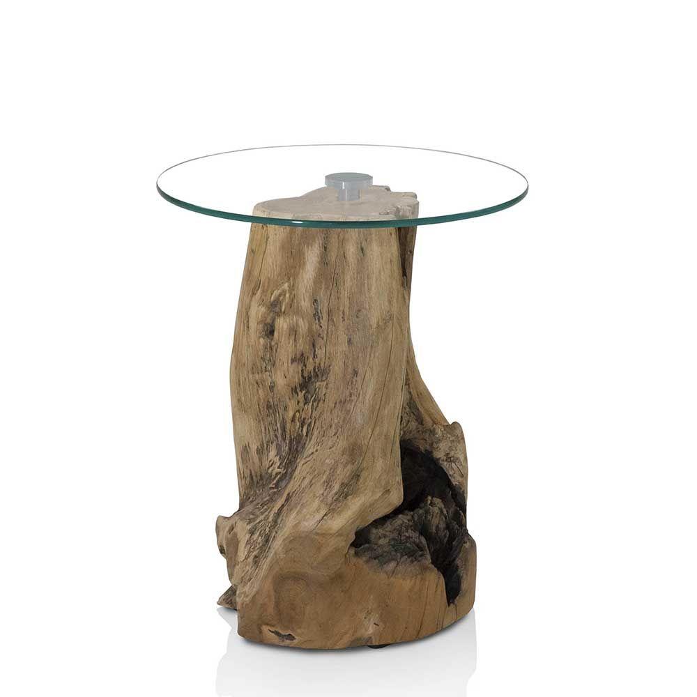 Beistelltisch aus Glas Baumstumpf Jetzt bestellen unter: https ...