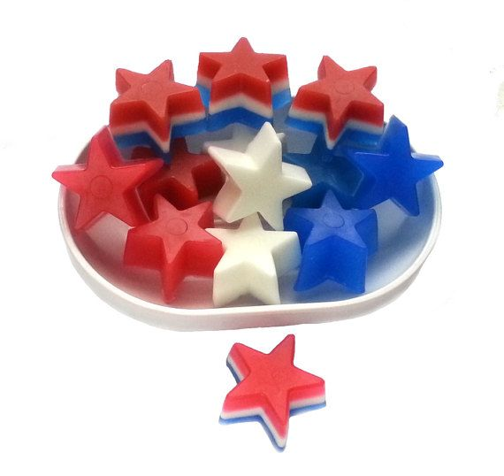 Check out this item in my Etsy shop https://www.etsy.com/ca/listing/489112302/20-party-favor-soap-star-soap-red-white