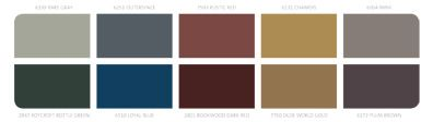 """The color chart from Sherwin Williams """"Midnight Mystery"""" palette."""