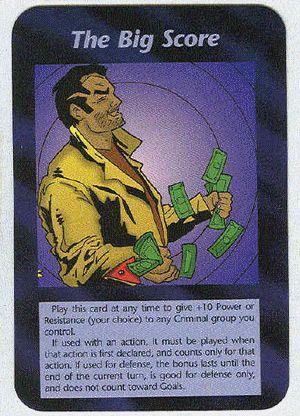 Illuminati card game, the big score