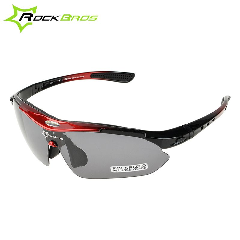 07f31cc0ce5 ROCKBROS Polarized Sports Men Sunglasses Road Cycling Glasses Mountain Bike  Bicycle Riding Protection Goggles Eyewear 5 Lens