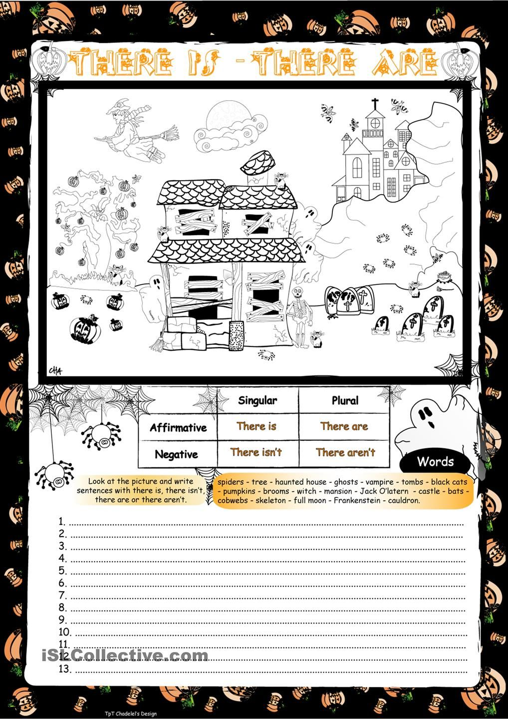 There Is There Are Is There A Skeleton School Activities Halloween Activities Halloween Kid Games [ 1440 x 1018 Pixel ]